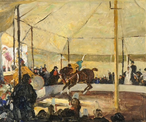 in der manege by lucien simon