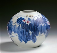 blue and white doucai vase by qi pecai