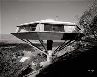 malin residence (chemosphere house), designed by john lautner, los angeles, california by julius shulman