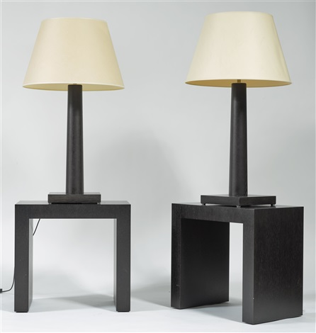 PAIR OF TABLE LAMPS WITH SIDE TABLES By Armani Casa On Artnet