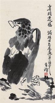 高瞻远瞩 镜心 设色纸本 by li kuchan