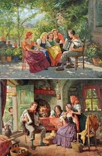 die handorgelspieler (pair) by lorenzo cecconi