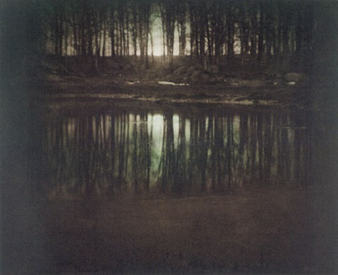 moonrise mamaroneck new york the pond midnight from edward steichen the early years 1900 1927 by edward steichen