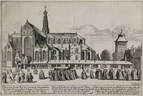 the stbavo church from the south east after p saenredam by jan van de velde ii
