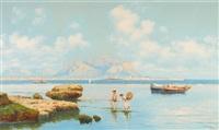 fischende kinder in der bucht von palermo by erminio cremp