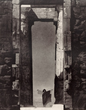 isadora duncan at the portal of the parthenon (from edward steichen: the early years 1900-1927) by edward steichen