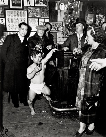 new years eve at sammys in the bowery by weegee