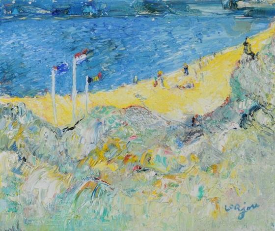 paysage de bord de mer by bernard lorjou