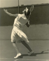 unidentified female tennis player (+ another, lrgr; 2 works) by wesley swadey and hal phyfe