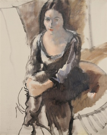 portrait de chériane by jules pascin