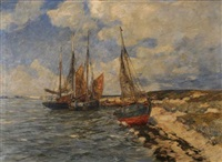 segelboote am strand by andreas dirks