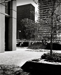 housing development; northrop plaza, los angeles, california (2 works) by julius shulman