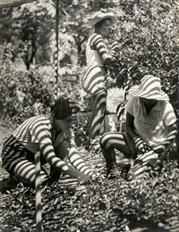kibbutz workers harvesting by walter zadek