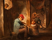 genreszene by david teniers the elder