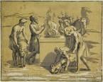 noah's sacrifice (after raphael) by antonio maria zanetti