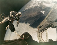 ed white floating in space, gemini 4 by james mcdivitt