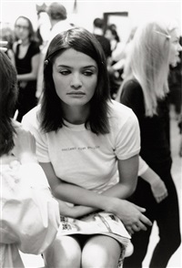 helena christensen, backstage chloé, paris by jens goethel