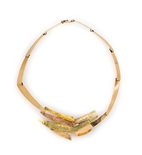 abstract textured multi-colored necklace by glenda arentzen