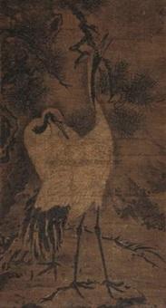松鹤延年 (pine and crane) by lin liang