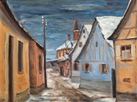 dorf im winter by emil bizer