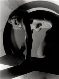 female nude with geometric shapes by josef vetrovsky