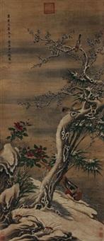 贵寿无极图 by qian xuan