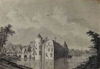 view of castle nederhorst at nederhorst den berg by theodor (dirk) verryck