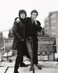 mick & keith for voodoo lounge by sante d'orazio