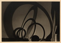 geometric shapes (+ vase with shadow; 2 works) by josef vetrovsky