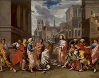christus und die ehebrecherin by johann peter abesch