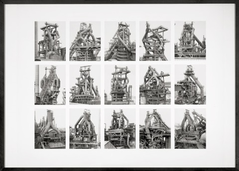 hochöfen (blast furnaces), image v (from the typologies series) by bernd and hilla becher
