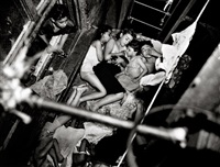 children on the fire-escape by weegee