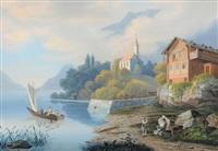l'église sur le lac de brienz by emanuel labhardt