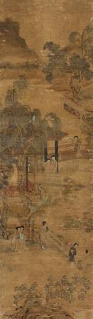 庭院消夏图 by qiu ying