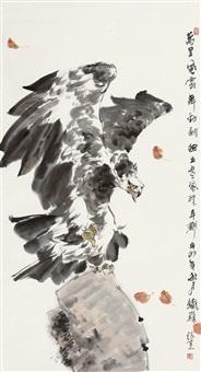 鹰石图 by zhang ce