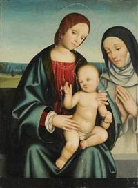 madonna mit kind und ordensheiliger by giacomo francia