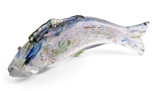 glasobjekt fisch by ermanno nason