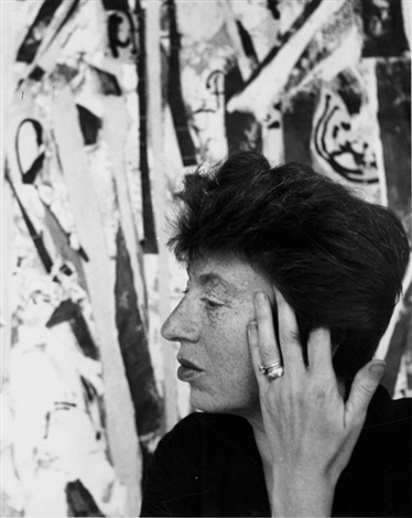lee krasner 1908 1984 in her studio by hans namuth