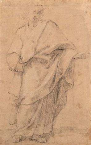 männliche figur im weiten mantel by jacopo da empoli chimenti