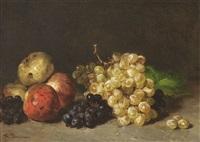 stillleben mit äpfeln und trauben by philippe rousseau