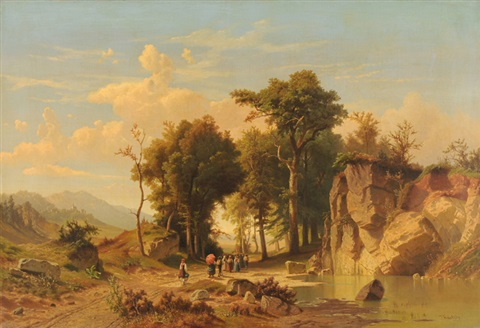 prozession in der landschaft by johann jan kautsky