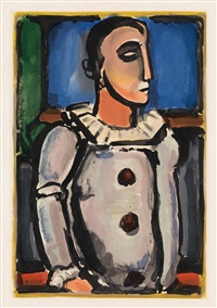 pierrot (from cirque de l'étoile filante) by georges rouault