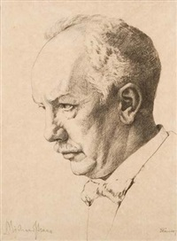 porträt richard strauss by leonhard fanto