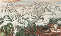 gebirgslandschaft by adolf (johann) staebli