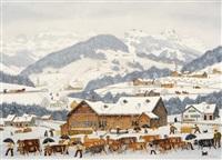 überfahrt im winter by albert manser