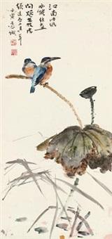 荷花翠鸟 by liu zigu