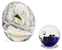paperweight and vase (for kosta) by goran warff