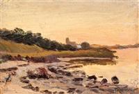 studie eines strandes bei sonnenuntergang by franz korwan