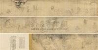 罗汉渡海图 (arhat) by xu zijing