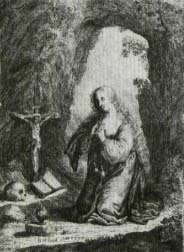 st. mary magdalen in the grotto by j.b. muykens